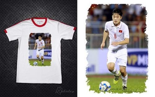 Trước thềm trận chung kết, không ít fan tìm mua những chiếc áo này để cổ vũ tinh thần cho các chàng trai.