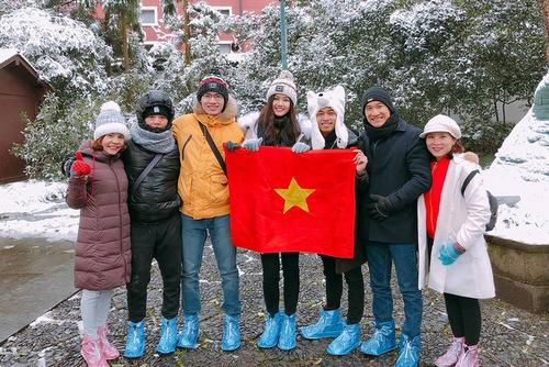 Á hậu Thanh Tú đã có mặt ở Thường Châu từ hôm qua.