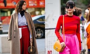 7 màu sắc kết hợp trang phục đỏ tạo sự mới lạ cho ngày Tết