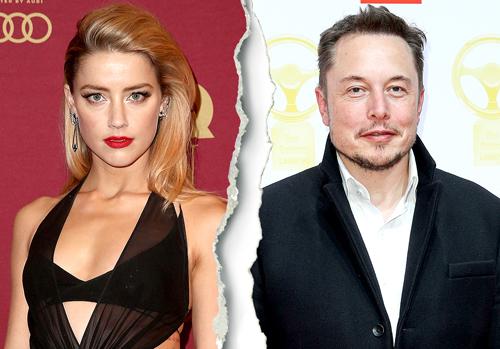Amber Heard và Elon Musk lại kết thúc chuyện hẹn hò.