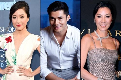 Từ trái sang: Constance Wu,Henry Golding vàMichelle Yeoh (Dương Tử Quỳnh).