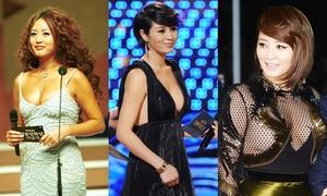Gu mặc hở bạo của Kim Hye Soo trên thảm đỏ Rồng Xanh 18 năm qua