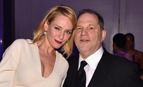 Uma Thurman và Harvey Weinstein.
