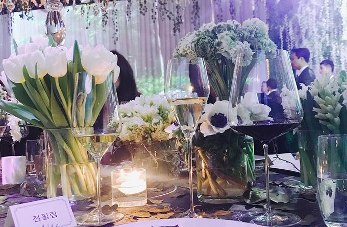 Tiệc cưới Taeyang - Min Hyo Rin ngập tràn hoa tươi