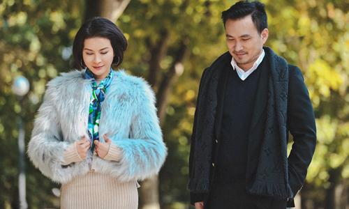 Diễn viên Thanh Mai (trái) và Chi Bảo đóng cặp tình nhân trong Tình khúc bạch dương.