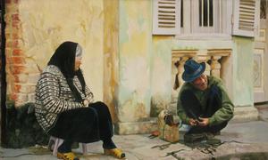 Vẻ yên bình của Hà Nội qua sách tranh