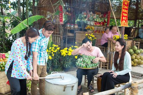 Cảnh quay ngày Tết trong Cô Thắm về làng phần ba.