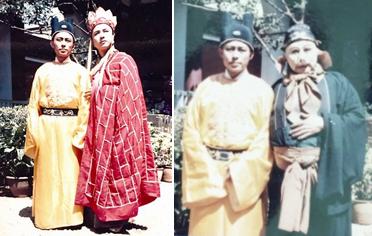 Thôi Minh Vỹ và diễn viên đóng Đường Tăng, Trư Bát Giới.