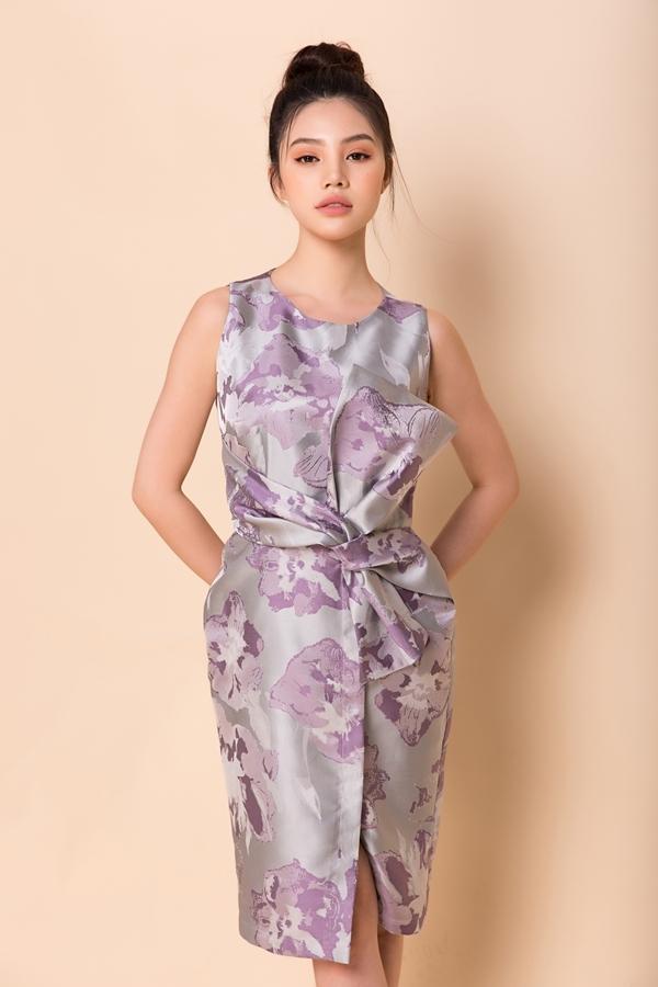 Jolie Nguyễn, Thùy Dung diện váy áo lụa tôn nét Á Đông