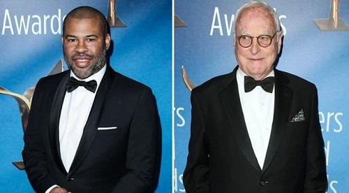 Jordan Peele (trái) và James Ivory được tôn vinh ở WGA Awards năm nay.