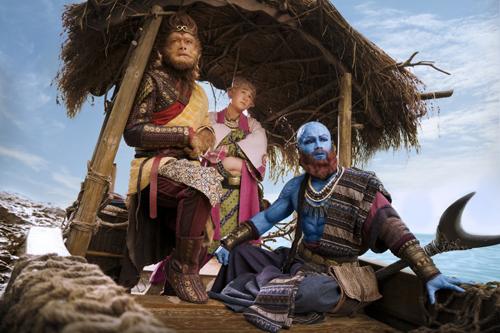 Từ trái sang: Tôn Ngộ Không, Trư Bát Giới, Sa Tăng trong Tây du ký: Nữ Nhi Quốc.