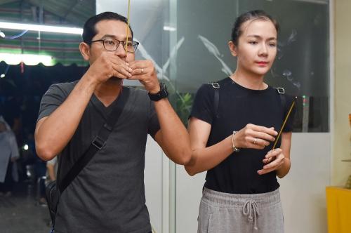 Vợ chồng diễn viên Huỳnh Đông.