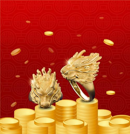 Vàng tinh khiết 24k với khả năng thu hút tài lộc mạnh mẽ.