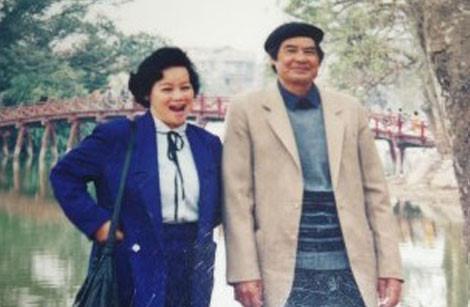 Vợ chồng nghệ sĩ Tuệ Minh - Nguyễn Đình Thi.