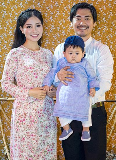 Gia đình nhỏ của Khánh Hiền.