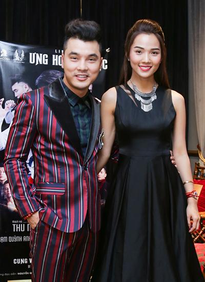 Ca sĩ Ưng Hoàng Phúc và vợ - cựu người mẫu Kim Cương.