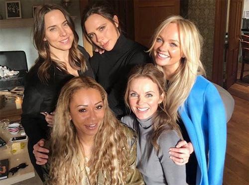 Nhóm Spice Girls trong buổi gặp gỡ hồi đầu tháng 2.