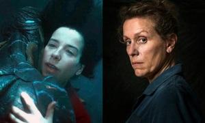 'Three Billboards' và phim cô gái yêu thủy quái so kè ở Oscar