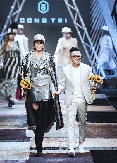 Nhà thiết kế Công Trí và người mẫu Thanh Hằng.