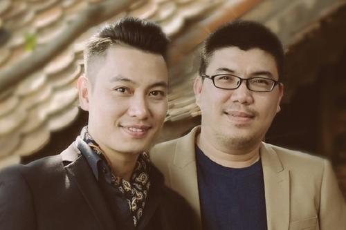 Ca sĩ Phúc Lâm (trái) và nhạc sĩ Võ Hoài Phúc.