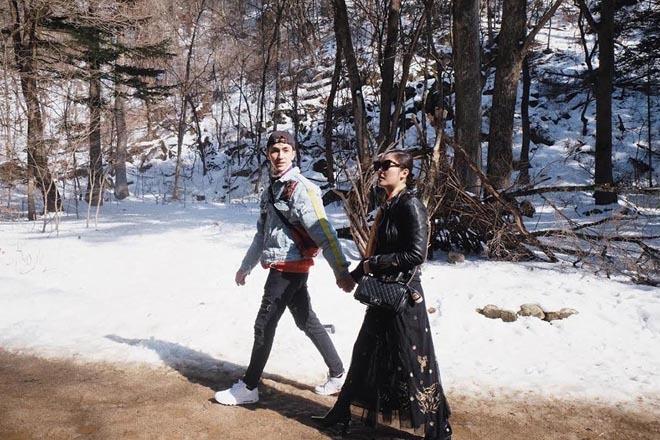 Văn Mai Hương cùng Bình An du ngoạn Hàn Quốc