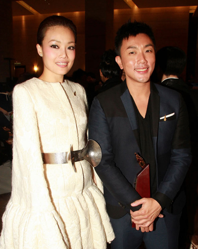Dung Tổ Nhi và Lưu Hạo Long. Ảnh: On.