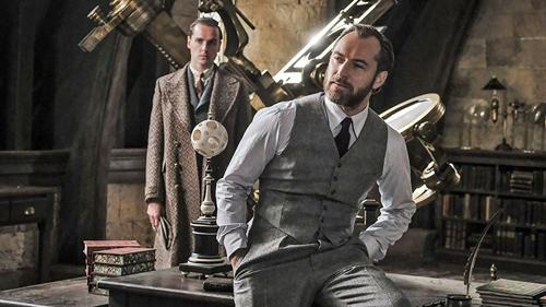 Tạo hình của Jude Law trong vai Dumbledore khi còn trẻ.
