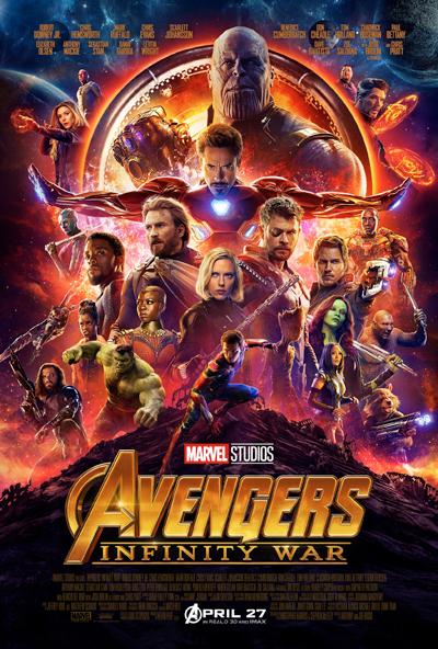 Dàn siêu anh hùng của Avengers: Infinity War.