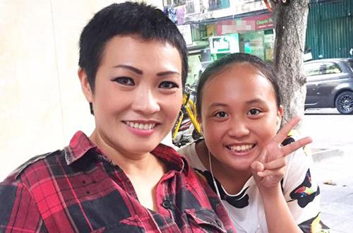 Phương Thanh và con gái - bé Gà.