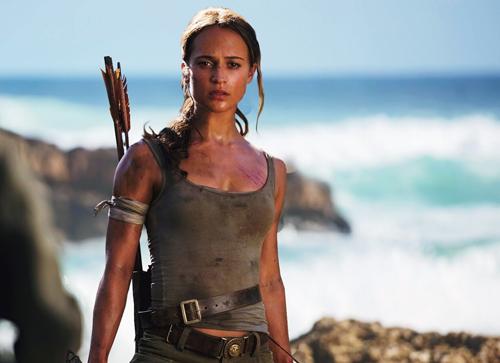 Tạo hình nhân vật Lara Croft của Alicia Vikander.