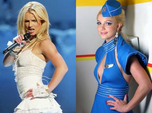 Năm 2003 đánh dấu sự nổi loạn của Britney Spears. Cô hóa thân thành cô dâu trên sân khấu VMA, hát Like A Virgin cùng Madonna, Christina Aguilera. Nụ hôn của cô và Madonna trong tiết mục này tạo ra nhiều tranh cãi. Cô cũng gây chú ý vớihình tượng nữ tiếp viên gợi cảm trong MV Toxic.
