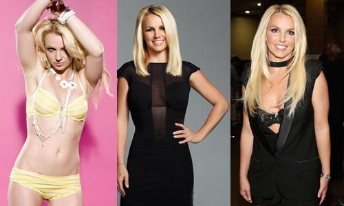 Britney Spears từ năm 2011 đến năm 2013 (từ trái qua). Từ năm 2013, Britney Spears mời huấn luyện viên Tony Martinez soạn bài tập hàng ngày cho cô. Ca sĩ bày tỏ cô muốn cơ thể cân đối để thoải mái mặc trang phục nóng bỏng.