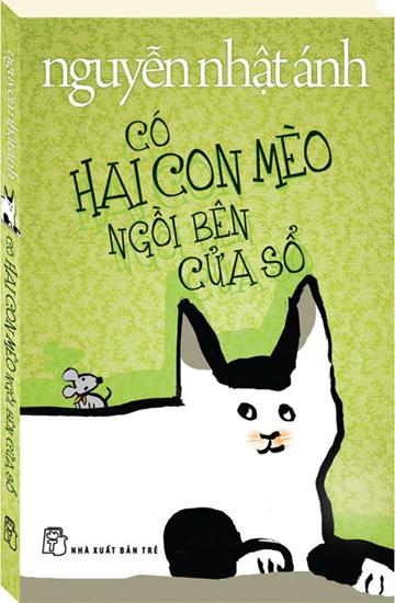 Bìa truyện Có hai con mèo ngồi bên cửa sổ.