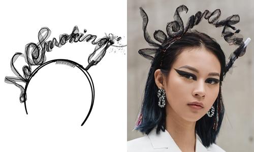 Mẫu bờm No Smoking của Alexander Wang và mẫu bờm làm nhái của Phí Phương Anh.