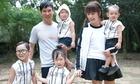 Vợ Lý Hải đưa bốn con đến phim trường thăm chồng