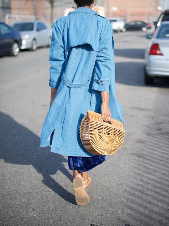 12 ý tưởng kết hợp túi cói với trang phục