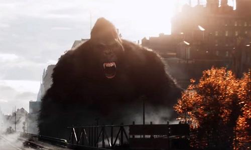 King Kong có một trích đoạn đáng nhớ trong màn chơi của các nhân vật.