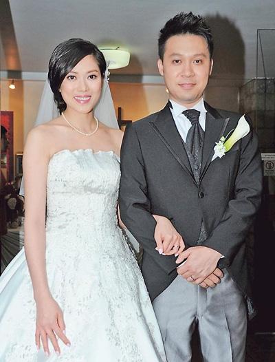 Vợ chồng Lâm Thục Mẫn ngày cưới.
