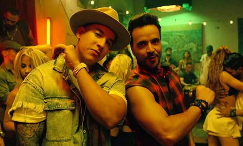Daddy Yankee (trái) và Luis Fonsi.