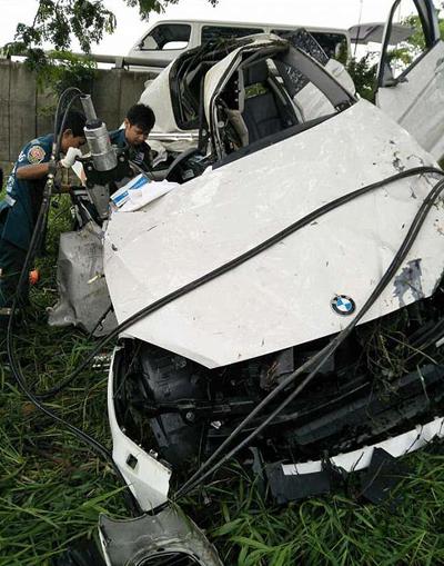 Hiện trường vụ tai nạn của Natnicha Cherdchubupagaree.
