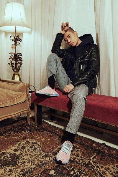 Fuji Nguyễn làm mẫu cho Adidas trong chiến dịch quảng bá mới nhất vào tuần trước.