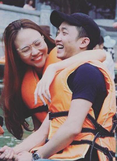 Đàm Thu Trang và người yêu trong một lần đi chơi cùng nhau. Ảnh: NVCC.