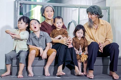 Gia đình nhỏ của Lý Hải trong MV.