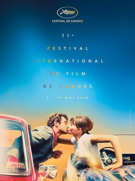 Poster Liên hoan phim Cannes 2018 là cảnh phimPierrot le Fou (1965) củaJean-Luc Godard.