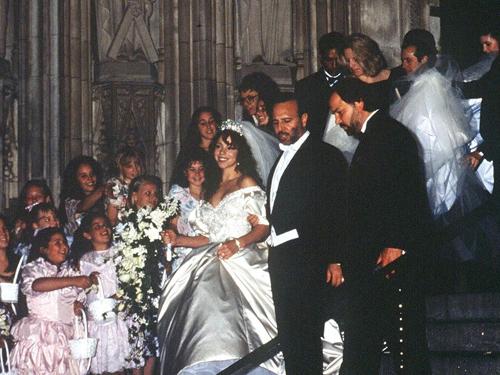 Đám cưới Mariah Carey và Tommy Mottola năm 1993.