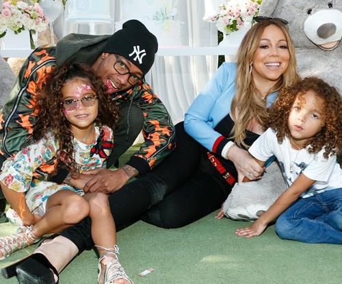 Mariah Carey bên người chồng thứ hai và cặp song sinh.