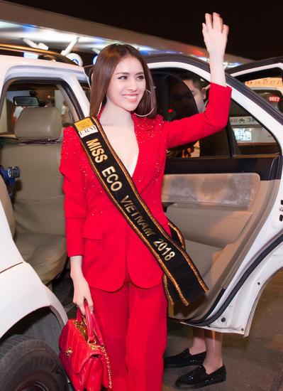 Người đẹp Thư Dung ngày lên đường đi Ai Cập.