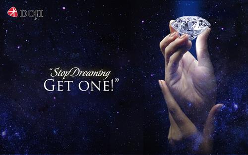 Với 18 triệu đồng, phái đẹp có thể sở hữu kim cương mơ ước từ DOJI.
