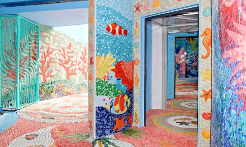 Hơn hai triệu viên gốm được trang trí tại Nhà gương Hà Nội - 4