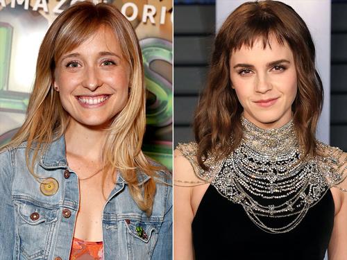 Allison Mack từng tìm cách tiếp cận Emma Watson (phải) nhưng không thành.